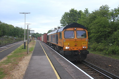 66761 Micheldever 29/05/21 4E34 Southampton Western Docks to Doncaster Iport