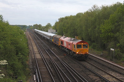 66783 Worting Junction 28/05/21 5Q81 Eastleigh to Wolverton with 73212, 2402, 2420 and 73213