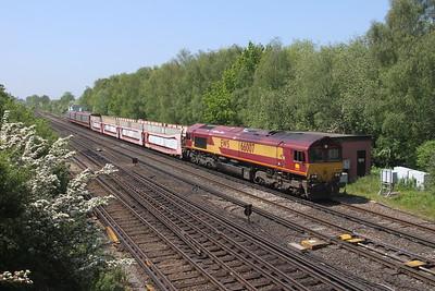 66007 Worting Junction 31/05/21 6M48 Eastleigh Arlington to Halewood