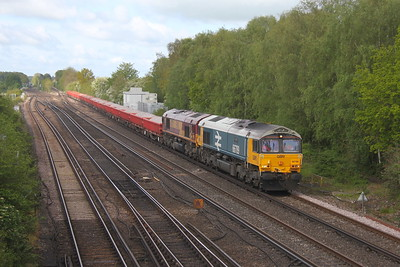 66789 Worting Junction 26/05/21 6Y48 Eastleigh to Hoo Junction with 66170