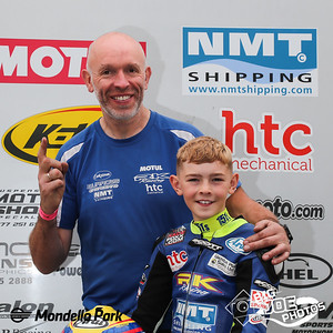 Masters Superbike, August 28/29th 2021, John Burrows with son Jack. Jack won the first FIM MiniGP race 19 years to the day after dad John made his racing debut at Mondello.