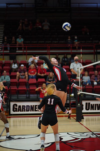 GWU Volleyball plays against PC