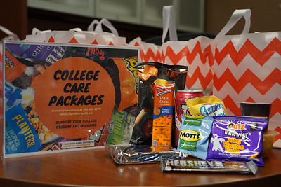 Images from Gardner-Webb University on October 11, 2021; Bo and Counselors, Midterm care packages