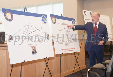 Special Counsel to the District Attorney Stewart Rosenwasser explains the contracts between Galileo Technologies Group and orange County IDA in 2020 during a press conference on Monday, June 21, 2021. HUDSON VALLEY PRESS/ Chuck Stewart, Jr.