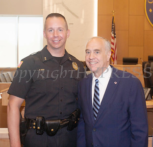 Chief Robert Doss of the Town of New Windsor Police Departmen with NYS Comptroller Thomas DiNapoli following the announcement of felony guilty pleas in the IDA case on Monday, June 21, 2021. HUDSON VALLEY PRESS/ Chuck Stewart, Jr.