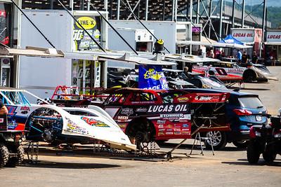Port Royal Speedway pit area