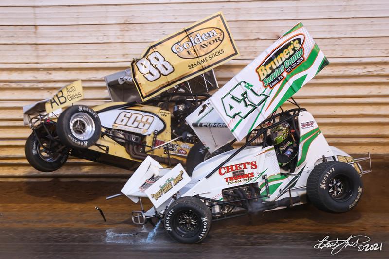 2021 Season Opener - Port Royal Speedway - 98 Jared Esh, 47k Kody Lehman