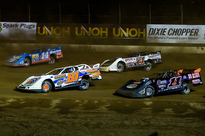 Brandon Fouts (81F), Josh Richards (14), Josh Rice (11R) and Hudson O'Neal (71)