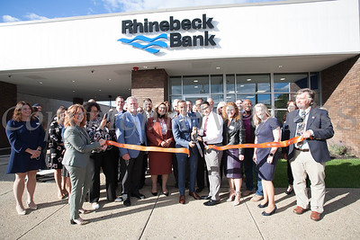Branch Manager Mario Jimenez and Branch Team Leader Sergio Valentin cut the ribbon as Rhinebeck Bank celebrates the grand opening of the Newburgh branch on Wednesday, September 29, 2021. HUDSON VALLEY PRESS/ Chuck Stewart, Jr.