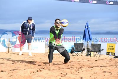 Birmingham 2022 Commonwealth Games Qualifier, Portobello Beach, Edinburgh, 25 September 2021.  © Lynne Marshall  https://www.volleyballphotos.co.uk/2021/SCO/Beach/CGQ2/