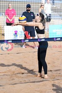 Birmingham 2022 Commonwealth Games Qualifier, Portobello Beach, Edinburgh, 26 September 2021.  © Lynne Marshall  https://www.volleyballphotos.co.uk/2021/SCO/Beach/CGQ3/