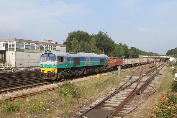 59001 Basingstoke 03/09/21 7V12 Woking Down Yard to Merehead