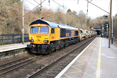 66748 tnt 66792 at 1005/6T64 Willesden Jct to Whitemoor   14/02/21