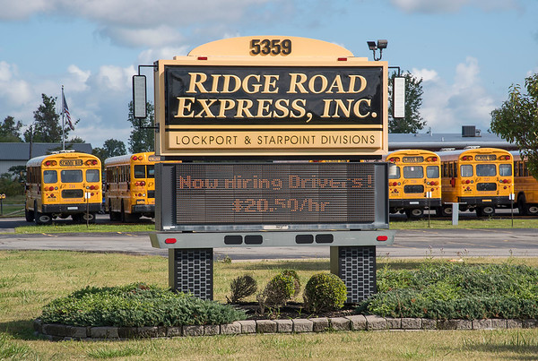 210910 Bus Drivers 1<br /> James Neiss/staff photographer <br /> Lockport, NY - Ridge Road Express in Lockport is one of many bus companies looking to recruit new drivers to help alleviate the shortage.