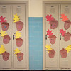 211015 DeSales Enterprise 1<br /> James Neiss/staff photographer <br /> Lockport, NY - Crafty DeSales Catholic School children decorate their lockers with the art of the fall season.