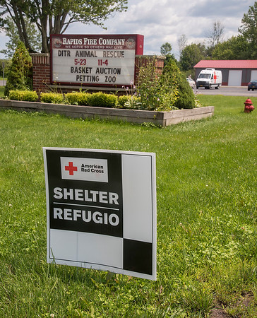 210722 Red Cross Shelter 2<br /> James Neiss/staff photographer <br /> Lockport, NY  - The American Red Cross has more than 50 cotts on hand for those who were displaced by Tuesday's flash flooding event. The American Red Cross set up a disaster relief shelter at the Rapids Fire Hall at 7195 Plank Rd. that will be available, he said, until at least Saturday.