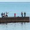 211010 Fishing Enterprise<br /> James Neiss/staff photographer <br /> Wilson, NY - Anglers enjoy fishing Sunday morning off Wilson Pier.
