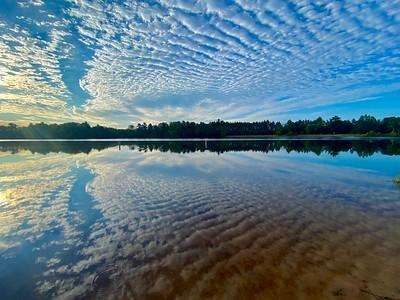 Jordan Pond a reservoir of the Plover River.