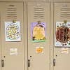 211015 DeSales Enterprise 3<br /> James Neiss/staff photographer <br /> Lockport, NY - Crafty DeSales Catholic School children decorate their lockers with the art of the fall season.