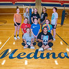 210917 Medina Volleyball <br /> James Neiss/staff photographer <br /> Medina, NY - From left, Front: Hailey Wilkins and Amaya Cleveland.<br /> Second row: Faith Oberther, Sara Swart and Saige Cau. <br /> Back: Elizabeth Parker, Minam Fike, Lorelai Sanders, Destiny Richardson and Kristen Trillizio.