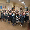 """211015 DeSales Alum 2<br /> James Neiss/staff photographer <br /> Lockport, NY - DeSales Catholic School kindergartners sing, """"He's Got The Whole World In His Hands"""" for the 2021 inductees of the DeSales High School Alumni Hall of Fame during ceremonies at the school."""