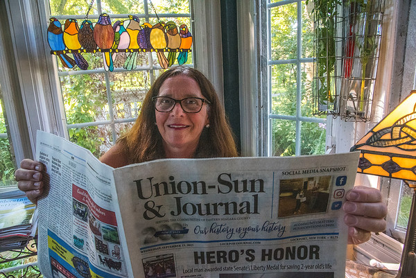 210916 MBT Subscriber 1<br /> James Neiss/staff photographer <br /> Lockport, NY - Subscriber Mary Brennan Taylor.