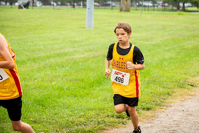 Boy's Middle School Cross Country at EIU, 2021