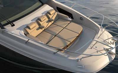 Sundancer 320 Outboard coupe bow sunpad