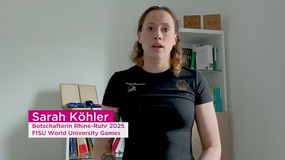 Statement von Fabian Hambüchen und Sarah Köhler Botschafter der Rhine-Ruhr 2025 FISU World University Games