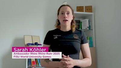 Statement of Fabian Hambüchen and Sarah Köhler Ambassadors Rhine-Ruhr 2025 FISU World University Games