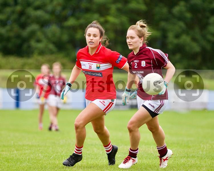 21st July 2019 Cork V Galway All-Ireland LGFA under-18 semi-final in Nenagh