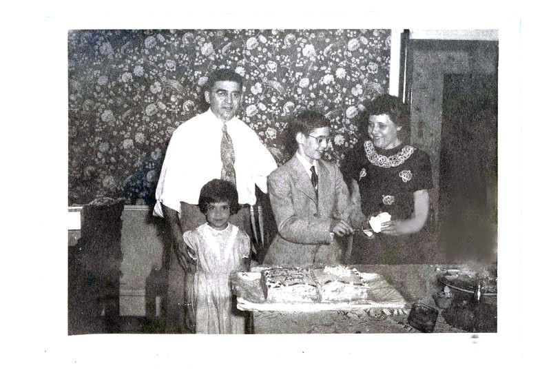 6.16.1951  The Goldins  at home celebrating .