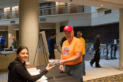 Participants attend registration of the 2017 Unitedzhealthcare Texas Challenge. Project Hero, a 501(c)3 non-profit organization, is dedicated to helping Veterans and First Responders affected by PTSD, TBI, illness and injury achieve rehabilitation, recovery and resilience in their daily lives. Photo by Candice Snow