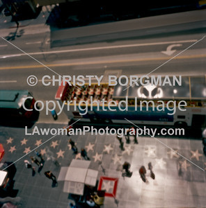Aerial view of Hollywood Blvd