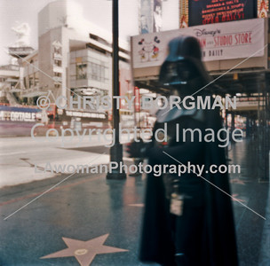 Darth Vader on Hollywood Blvd