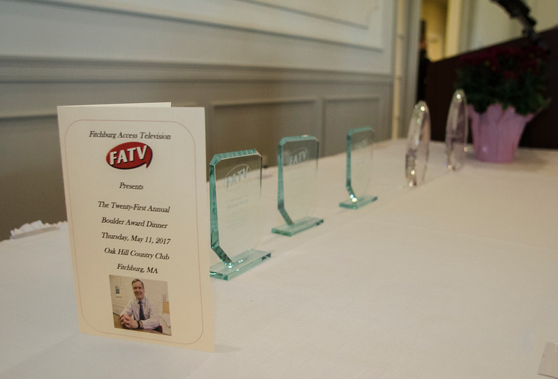 The 2017  Fitchburg Access Television Boulder Awards were held at Oak Hill Country Club on Thursday, May 11, 2017. SENTINEL & ENTERPRISE / Ashley Green