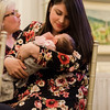 Alexandra Cardinale holds newborn Rena during the 21st annual Fitchburg Access Television Boulder Awards at Oak Hill Country Club on Thursday, May 11, 2017. SENTINEL & ENTERPRISE / Ashley Green