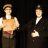 Mr James Throttle Stage Manager of the Music Hall Royale, and Mr Nicholas Michael as Horace