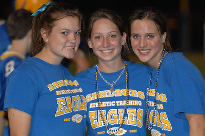 L to R  football trainers Jill Larmon Brittany Pinkos Maddy Nelson