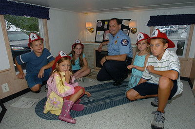 Fire Inspector Mike Ercoli left to right Brian Trochuck Audrey Sanchez Kimberly Trochuck Kayla Snaidarf Caden Canauan