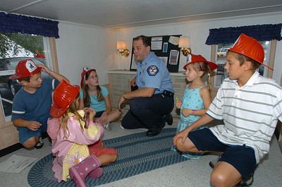 Fire Inspector Mike Ercoli left to right Brian Trochuck Kimberly Trochuck Kayla Snaidarf Caden Canauan