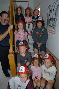 left to right Fire Inspector Pat Collier kids: Jason, Jessica Samantha, Justin Bobby Kelly, Claire, Elizabeth