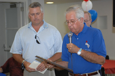 "Joe Kelbus (right) Veterans Commission and honoree ""Disabled Patriot Fund"" Patrick McShane"
