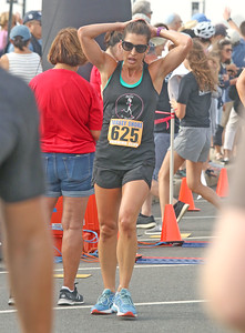 1rst place female, Courtney Decker, from avon. The 2019 Bradley Beach 5k in Bradley Beach, NJ on 8/17/19. [DANIELLA HEMINGHAUS]