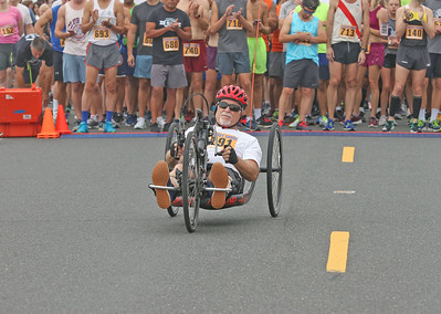 William Fountain from farmingdale. The 2019 Bradley Beach 5k in Bradley Beach, NJ on 8/17/19. [DANIELLA HEMINGHAUS]