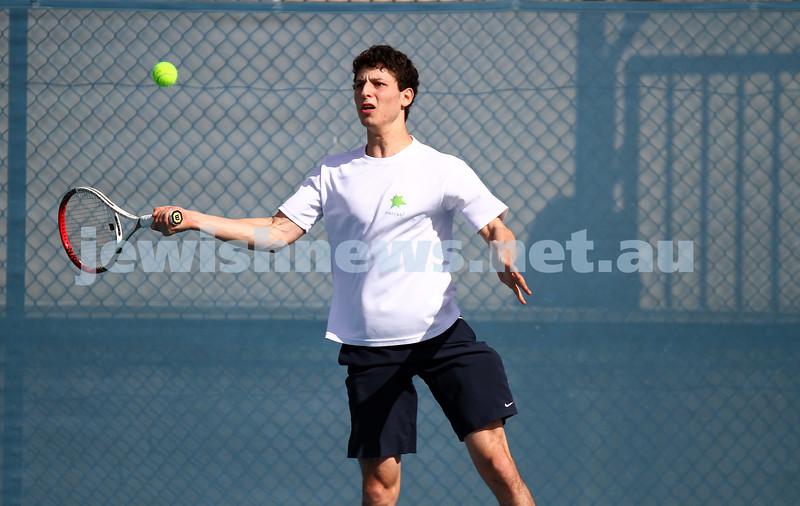 23-8-14. Maccabi tennis Grade 3 Pennant def Kooyong.  Naveh Dvir-Ovadia. Photo: Peter Haskin