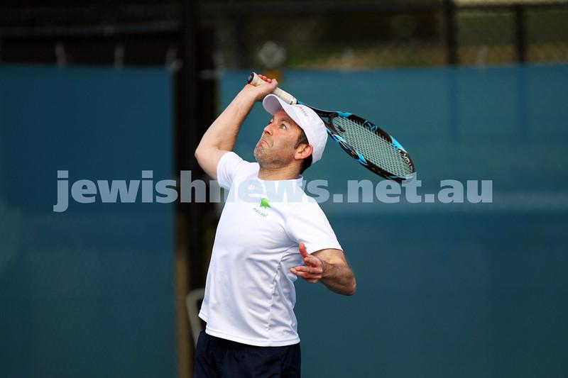 23-8-14. Maccabi tennis Grade 3 Pennant def Kooyong.  Joel Fredman. Photo: Peter Haskin