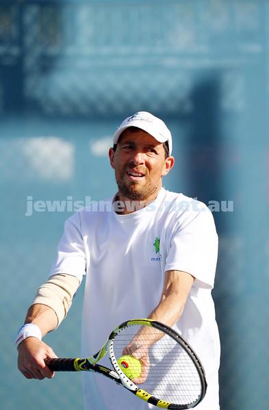 23-8-14. Maccabi tennis Grade 3 Pennant def Kooyong.  Steven Gostin. Photo: Peter Haskin