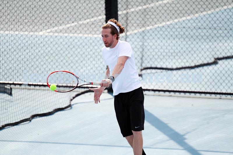 23-8-14. Maccabi tennis Grade 3 Pennant def Kooyong.  Assaf Drori. Photo: Peter Haskin