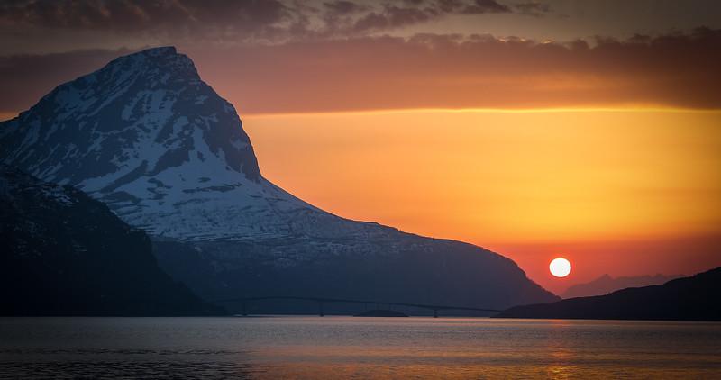 Solnedgang over Andørja